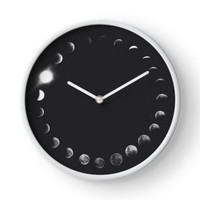 'Moon Phases Ring' Clock by phantastique