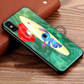Mermaid and the Cute Stitch iPhone X 8 7 Plus 6s Cases Samsung Galaxy S8 Plus S7 edge NOTE 8 Covers #iphoneX #SamsungS8