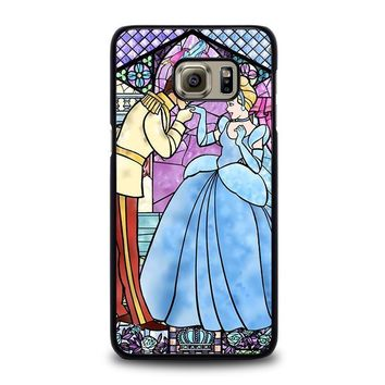 cinderella art glasses disney samsung galaxy s6 edge plus case cover  number 2