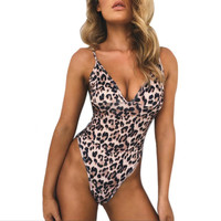 2017 Swimsuit Plus Size Swimwear Women Bathing Suit Unpadded Beach Wear Sexy Leopard Swimming -0401