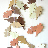 Brown Oak Leaf Garland - Fall Autumn Decor - Thanksgiving decor - Thanksgiving Garland - Fall Leaf Garland