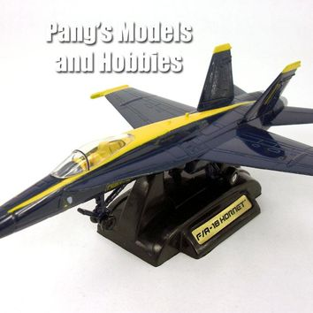 Boeing McDonnell Douglas F/A-18 F-18 Hornet Blue Angels - 1/72 Scale Diecast Model by Motor Max