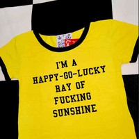 SWEET LORD O'MIGHTY! FUCKING SUNSHINE RINGER TEE IN YELLOW