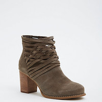 Genuine Suede Strappy Booties (Wide Width)