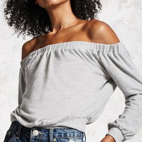 Heathered Off-the-Shoulder Top