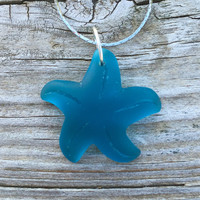 Teal Sea Glass Starfish Beach Boho Nautical by Wave of Life™