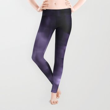 Purple abstract painting. Leggings by VanessaGF