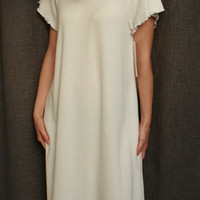 Short Sleeve Long Nightgown Cotton/Poly Basket Weave Made In USA | Simple Pleasures, Inc.