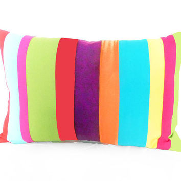 Popsicle Colored Decorative Pillows Multi by PillowThrowDecor