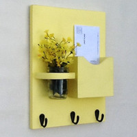 Mail Organizer - Letter Holder - Mail Holder - Key Hooks - Key Rack