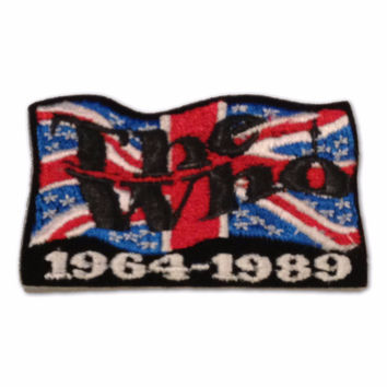 The Who 25 Years Embroidered Union Jack Patch