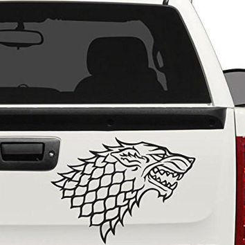 Starks Wolf Banner From the Game of Throne Decal Sticker for Car Window, Laptop