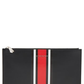 Givenchy Pandora Stripe Calfskin Pouch | Nordstrom