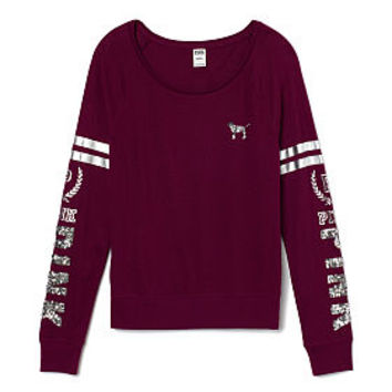 Bling Long Sleeve Raglan - PINK - from VS PINK