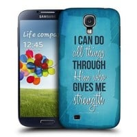 Head Case Designs Strength Christian Inspired Protective Snap-on Hard Back Case Cover for Samsung Galaxy S4 I9500