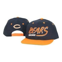 Chicago Bears Snap Back Flat Bill Adjustable Baseball Hat