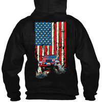 American Flag Jeep Wrangler YJ Tailgate Hoodie (ONLY 2 LEFT!)