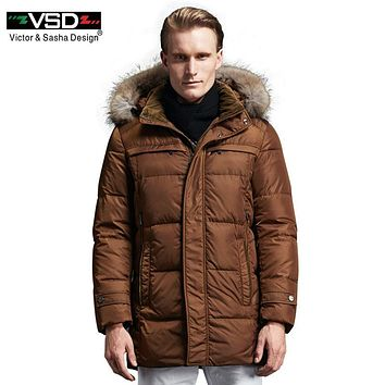 VSD 90% White Duck Down Jackets Quality Handsome Warm Long Fashion Business Winter Men's Clothing Casual Coat Male Parka TC8881