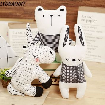 1pc 40cm Kawaii Nordic Style Rabbit Unicorn Bear Pillow Cushion Toy Cotton Animal Plush Toy Children's Toys Baby Room Decoration