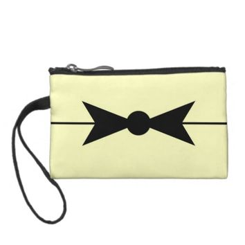 Vintage Bow Clutch Coin Wallet