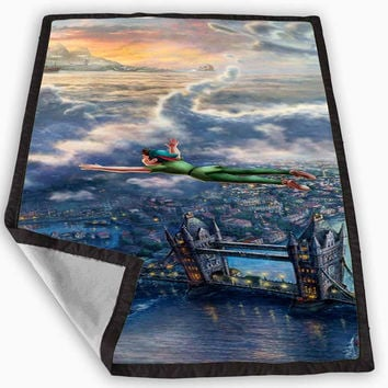 Disney Peter Pan Art Special Design Blanket for Kids Blanket, Fleece Blanket Cute and Awesome Blanket for your bedding, Blanket fleece **