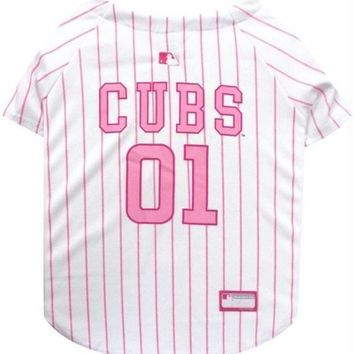 ONETOW Chicago Cubs Pink Pet Jersey