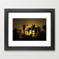 Sunset in Tropics Framed Art Print by Zina Zinchik