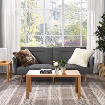 DHP Brent Linen Futon | Overstock.com Shopping - The Best Deals on Futons