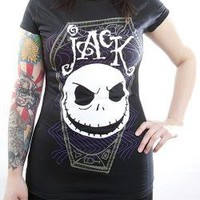 ROCKWORLDEAST - Nightmare Before Christmas, Girls T-Shirt, Jack Coffin