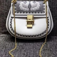 [Exclusive] Chloé Drew embossed textured-leather shoulder bag