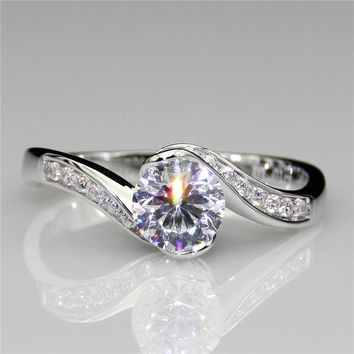 14KT White Gold Luxury Colorless 1ct Lab Grown Diamond