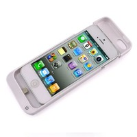 Smartodoors 5V/2200mAh Backup External Battery Charging Case Cover Charger For iPhone 5C 5S 5 - White