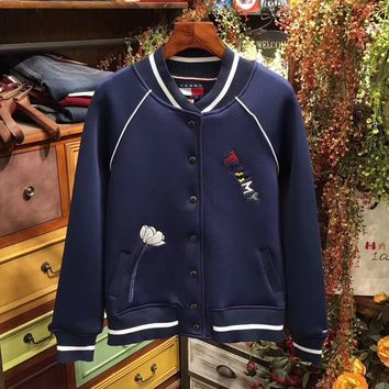 """Tommy Hilfiger"" Women Embroidery LOGO Jacket Coat"