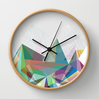 Colorflash 7 Wall Clock by Mareike Böhmer Graphics
