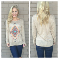 Mocha Crystal Eye of the Tribe Burnout Top