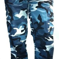 Various Punk - Blue/White Camo Trousers