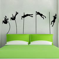 Vinyl Wall Decal Sticker Female Pole Vault #5393
