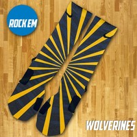 Michigan Wolverines Inspired Custom Nike Elite Socks | Rock 'Em Apparel