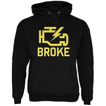 Automotive Broke Engine Light Black Adult Hoodie
