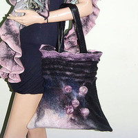 "Bag ""Morning mist"", women's bag, felted bag, wool bag, OOAK, eco friendly bag, women's accessories,bags & purses,make order"