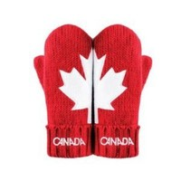 Canada Olympic RED MITTS Mittens HBC Adult L/XL Size New 2011 Version
