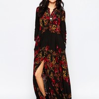 Free People After Storm Maxi Dress In Black Combo