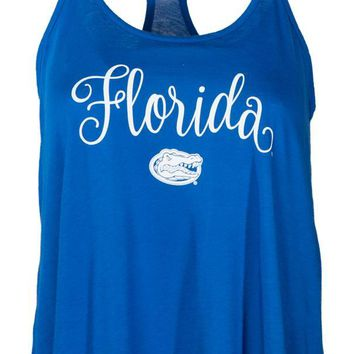 Official NCAA University of Florida Gators The Orange and Blue GATOR NATION! Women's Athlesiure Lamp Shade Tank Top