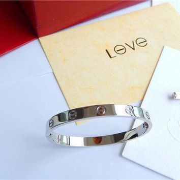 One-nice? -Cartier Love Bangle Bracelet in 18k White Gold size 18 Screwdriver/BOX'
