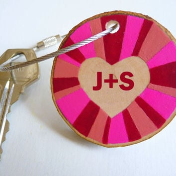 Valentine's Day gift, heart keychain, personalized keychain, custom keychain, monogram keychain, love keychain, heart necklace,heart pendant