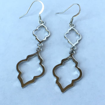 Torch Light Earrings - Silver