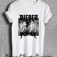 Justin Bieber Shirt Justin Bieber Purpose Tour Merch Tshirt Unisex Size T-Shirt