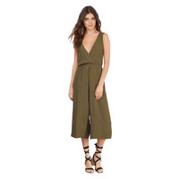 Deep V Neck Sleeveless Cropped Jumpsuit