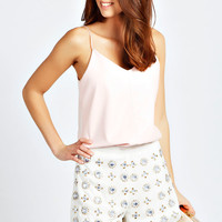 Colette All Over Beaded Chiffon Shorts