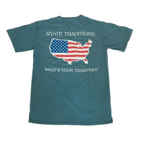 America Traditional T-Shirt Sea